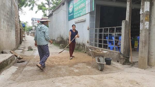 Các ngõ xóm khác cũng được dọn dẹp sạch sẽ.