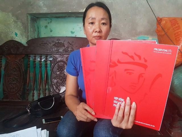 Chị Đặng Thị Bích cho biết, quá bất bình trước sự việc, gia đình chị đã liên hệ với luật sư để khởi kiện Công ty TNHH Bảo hiểm Nhân thọ Prudential Việt Nam ra tòa án. Ảnh: PV