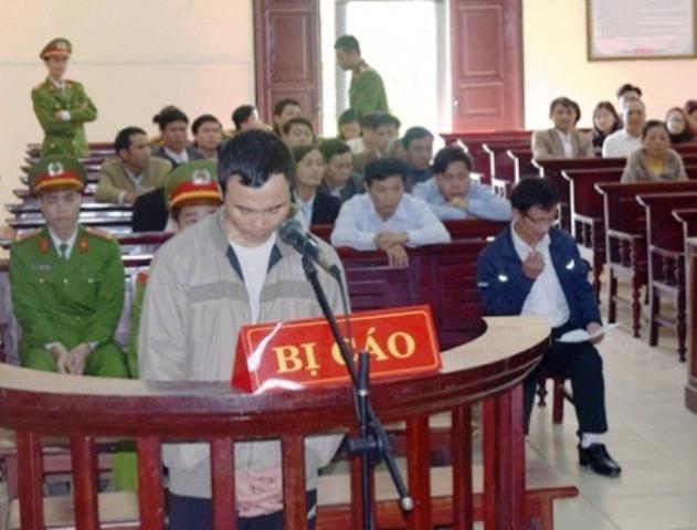 Bị cáo Nguyễn Ngọc Thành tại phiên tòa xét xử ngày 17/2. Ảnh: M.K