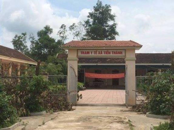 Trạm Y tế xã Tiến Thành nơi bà Lương làm việc.