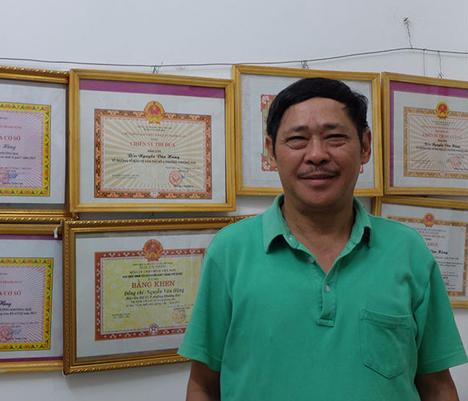 Cựu binh Nguyễn Văn Hùng. Ảnh: Chí Cường