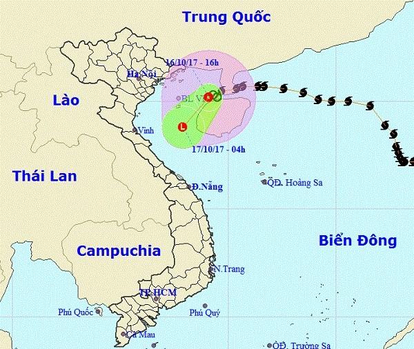 Áp thấp nhiệt đới ảnh hưởng tới các tỉnh miền Bắc và miền Trung.