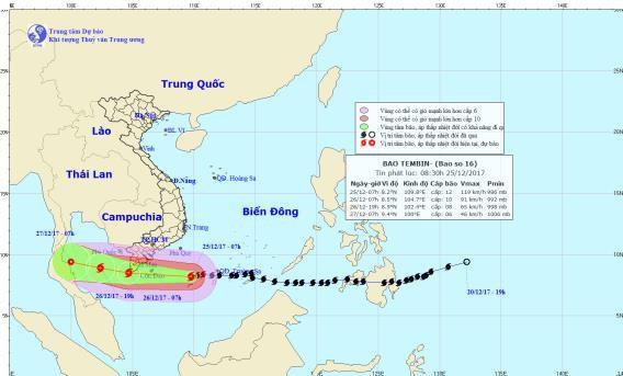 Tin khẩn cấp về cơn bão số 16: Tối nay bão vào Nam bộ, sóng cao 10m
