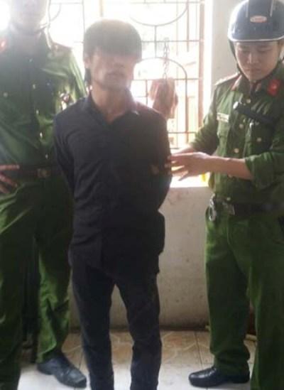 Đối tượng Thái bị cơ quan công an bắt giữ.