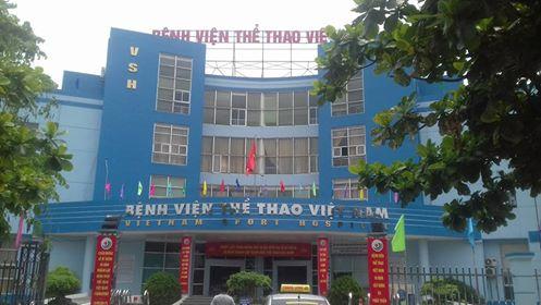 Bệnh viện Thể thao Việt Nam nơi xảy ra vụ việc bác sĩ bị đánh và bắt quỳ gối. Ảnh: X.Thắng