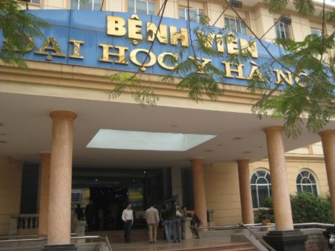 Bệnh viện Đại học Y Hà Nội - nơi xảy ra vụ việc.