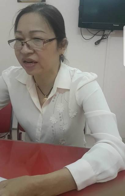 Bà Trịnh Thị Hiếu trong buổi trao đổi với PV Báo Gia đình và Xã hội. Ảnh: Tác giả