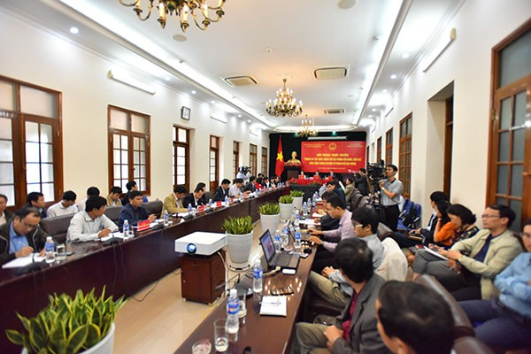 Toàn cảnh phiên đối thoại trực tuyến trên Cổng thông tin điện tử thành phố Hải Phòng