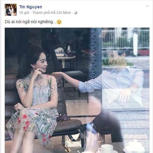 Không bao giờ khoe chuyện tình yêu, nhưng Nguyễn Trung Tín luôn biết bênh vực bạn gái đúng lúc.