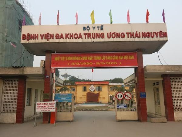 Bệnh viện Đa khoa Trung ương Thái Nguyên - nơi xảy ra vụ việc sinh viên trường y bị người nhà bệnh nhân hành hung.