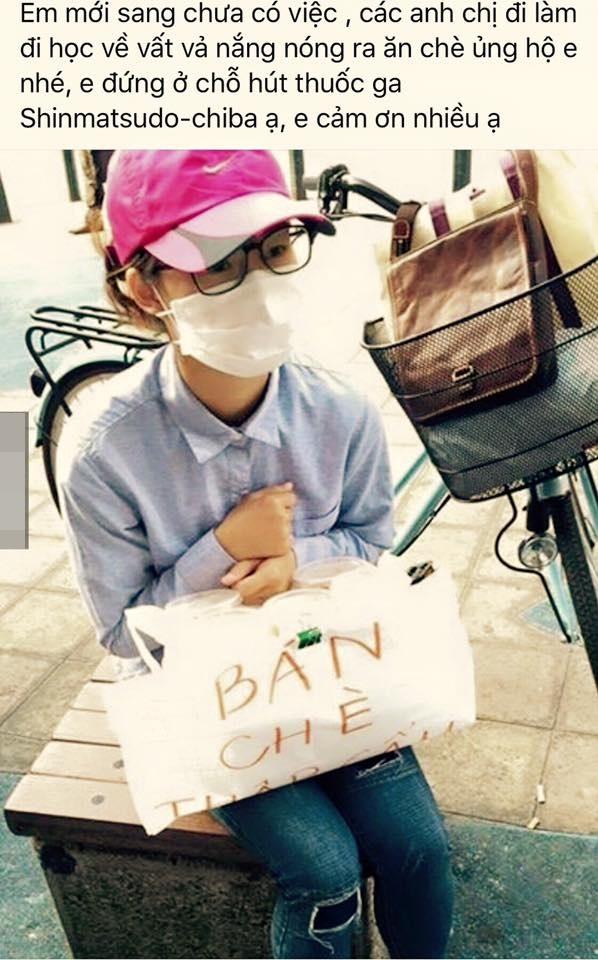 """Hình ảnh du học sinh Việt Nam tại Nhật Bản đi bán chè để có chi phí học tập làm """"dậy sóng"""" cộng đồng mạng trong thời gian qua. Ảnh: T.L"""