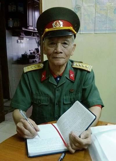 Pháo thủ Nguyễn Thế Trường trong chiến dịch Điện Biên Phủ lịch sử. Ảnh: C.T