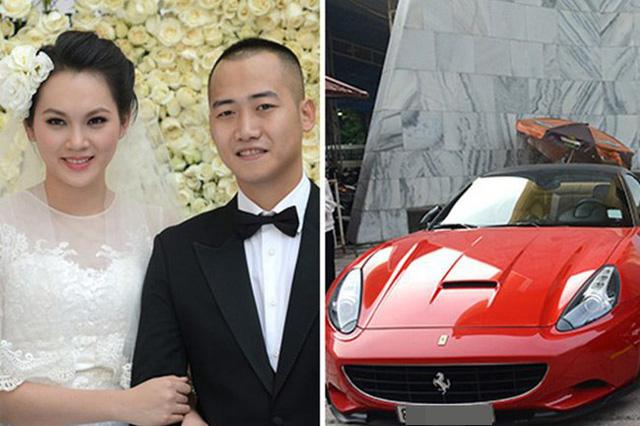 Ngọc Thạch được rước dâu bằng siêu xe Ferrari