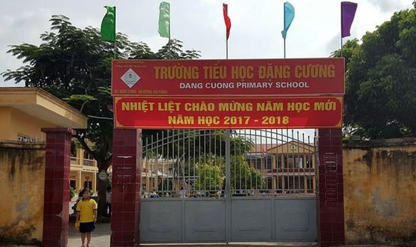 Trường tiểu học Đặng Cương, nơi xảy ra sự việc. Ảnh: K.Hòa
