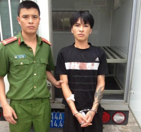 Đối tượng Hoàng Anh Tuấn bị lực lượng chức năng bắt giữ. Ảnh: (Cơ quan công an cung cấp)
