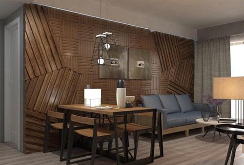 Tông màu trầm được sử dụng cho hầu hết căn nhà