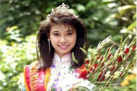 Hoa hậu Hà Kiều Anh khi mới đăng quang