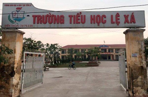 Trường tiểu học Lệ Xá, nơi bà Quyên làm Hiệu trưởng. Ảnh: TL