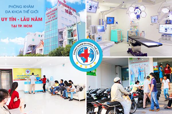 Các bệnh nhân đến khám tại phòng khám đa khoa Thế Giới