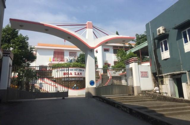 Trường Mầm non Hoa Lan, nơi xảy ra sự việc. Ảnh: TL
