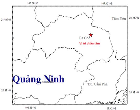 Vào lúc 15h 09 phút, tại huyện Ba Chẽ cũng xảy ra trận động đất 2,8 độ Richter. Ảnh: TL.