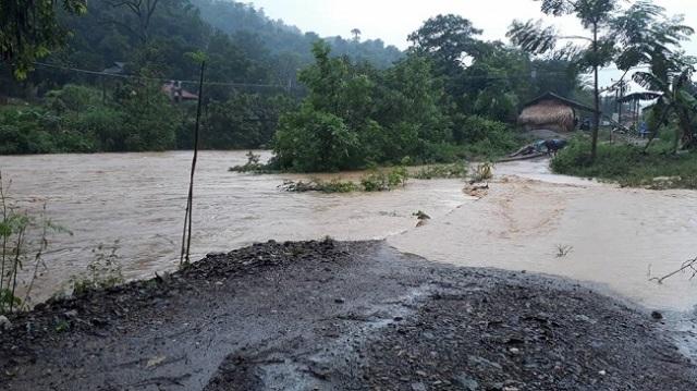 Mưa lũ gây thiệt hại nặng nề tại Sơn La. Ảnh: Nguyễn Nga