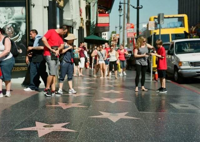 Đại lộ danh vọng Hollywood. Ảnh: T.L