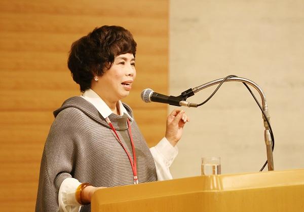Tham luận của bà Thái Hương tại Hội nghị được nhiều người quan tâm.