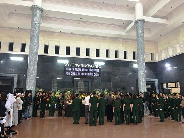 Lễ truy điệu được tổ chức trang nghiêm, trọng thể theo nghi thức lễ tang Quân đội