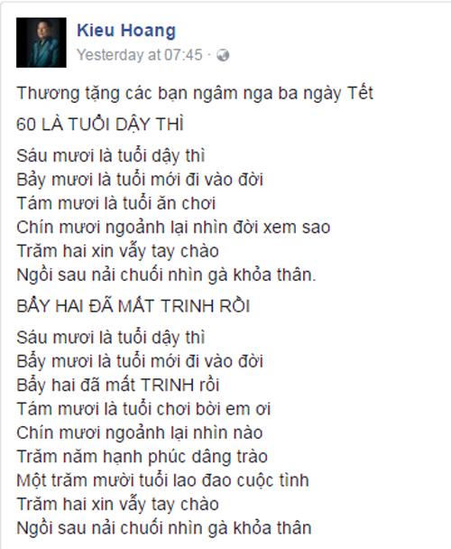 Bài thơ lố bịch của tỷ phú Hoàng Kiều khiến dư luận lên án dữ dội