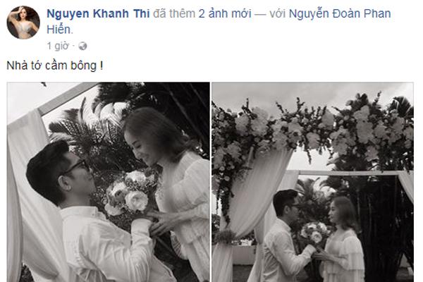 Khánh Thi và Phan Hiển gây hiểu lầm cho khán giả bởi hình ảnh hai người như trong một hôn lễ.