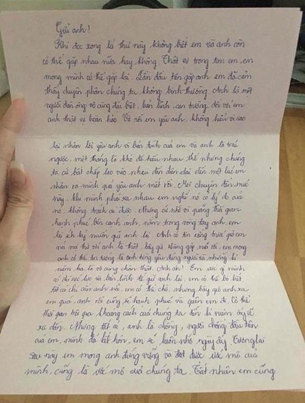 Thư tình Võ Hồng Ngọc Huệ gửi cho chồng người ta bị dư luận lên án.
