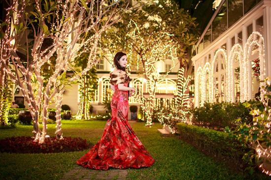 Biệt thự lộng lẫy của Hoa hậu Đền Hùng