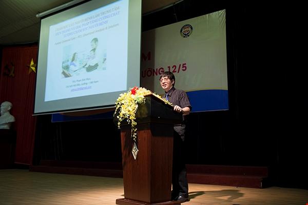 ThS. Phạm Đức Mục – Chủ tịch Hội Điều dưỡng Việt Nam, phát biểu tại Lễ kỉ niệm. Ảnh CT