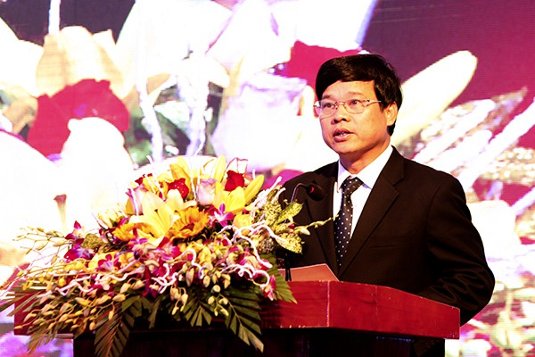 Phó Chủ tịch UBND TP Hà Nội phát biểu tại buổi lễ.