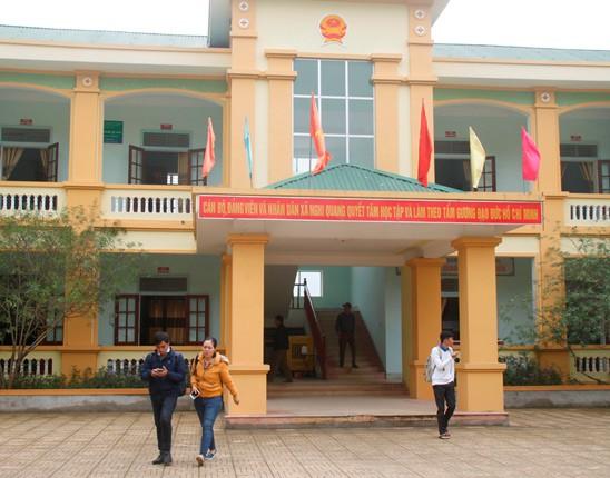 Trụ sở UBND xã Nghi Quang nơi xảy ra vụ việc.