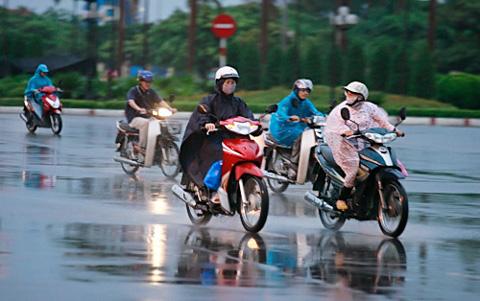 Miền Bắc lại sắp đón mưa diện rộng do ảnh hưởng của rãnh áp thấp bị nén. Hình minh họa