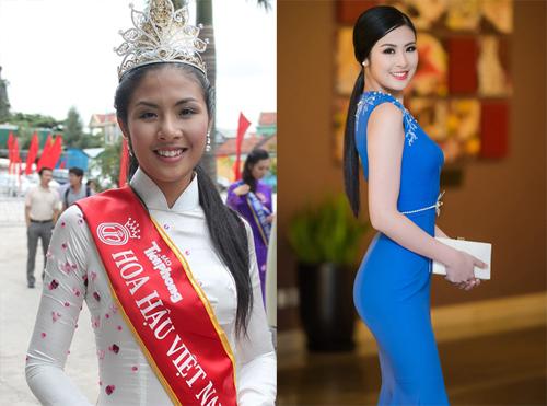 Hình ảnh Hoa hậu Ngọc Hân khi đăng quang và sau này