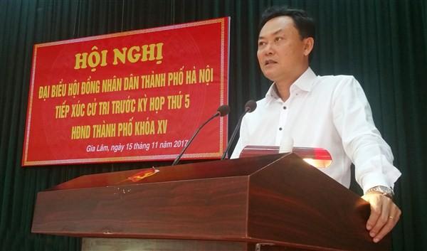 Ông Lê Anh Quân - Chủ tịch UBND huyện Gia Lâm (TP.Hà Nội). Ảnh: Báo KTĐT