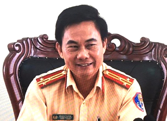 Ông Võ Đình Thường - Thượng tá, Phó phòng CSGT, Công an tỉnh Đồng Nai