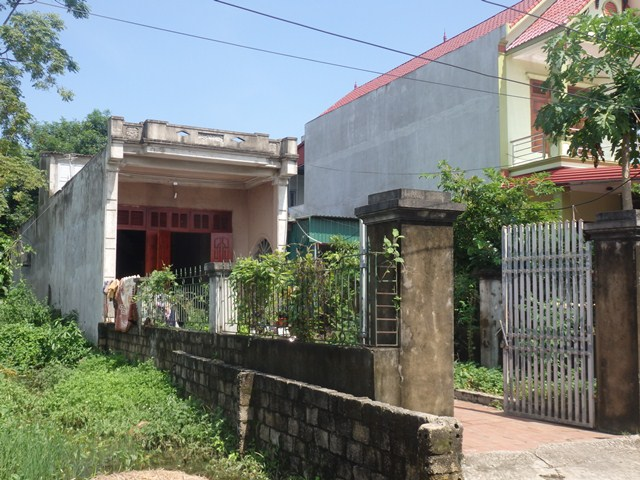 Ngôi nhà của vợ chồng Đại úy Chủng vẫn chưa hoàn thiện và hiện đang còn mắc nợ.