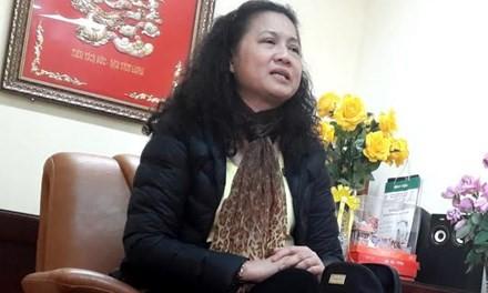 Hiệu trưởng trường tiểu học Nam Trung Yên. Ảnh: Tiền Phong.