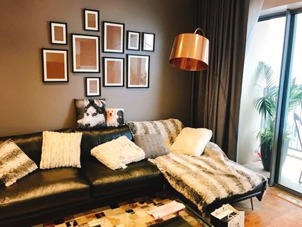 Không gian phòng khách căn hộ mới của Thành Trung.