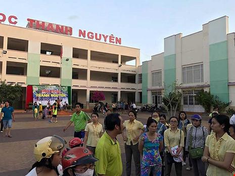 Trường Thanh Nguyên, TP Phan Thiết, nơi xảy ra vụ việc lùm xùm. Ảnh: PHƯƠNG NAM