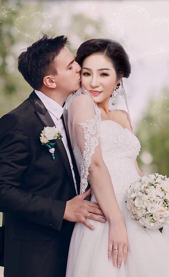 Thúy Nga hạnh phúc bên chồng sắp cưới. Ảnh: FBNV.