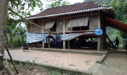 Ngôi nhà của gia đình bé Thanh ở Thanh Hóa. Ảnh: Tiền Phong.