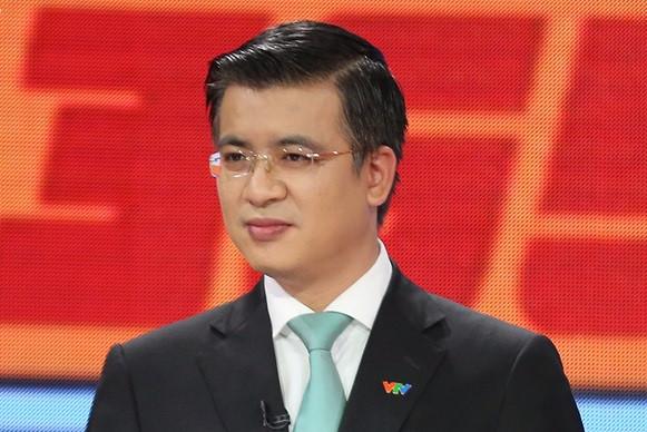 Nhà báo Quang Minh - tân Giám đốc Trung tâm tin tức VTV24. Ảnh: VTV.