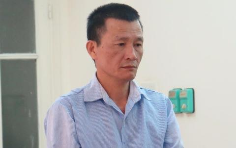 Nguyễn Quý Cường tại phiên xử sáng nay.