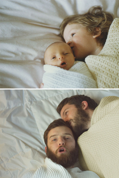 Hai anh em trở về thời thơ ấu trong bức ảnh ngày ấy - bây giờ.