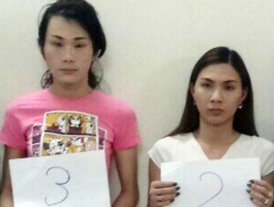 Nghi can Tuấn và Hùng bị bắt giữ (Ảnh CA)